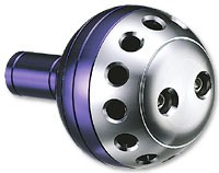 Daiwa Works Power Round Knob (blue/silver) 44mm (Daiwa L fitting)