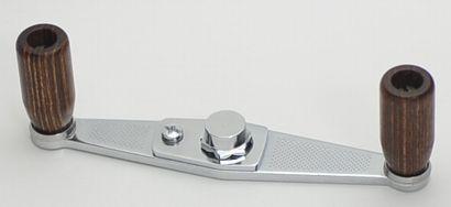 Mike's Wood knob handle for ABU, chrome