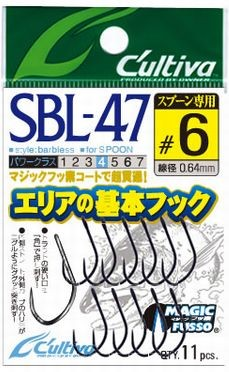 Owner SBL-47 Fine wire single barbless hooks