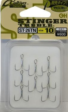 Owner ST-26TN Fine wire triple hooks, TN coated saltwater resistant