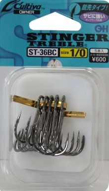 Owner ST-36BC Regular wire triple hooks Black Coating