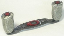 Studio composite RC-SC 86/90mm Silver Carbon knob carbon handle