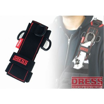 Dress Universal Holder Black Red Stitches