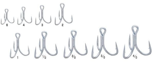 Owner STX-58 Heavy wire triple hooks, TN coated saltwater resistant