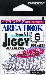 Decoy Area Hook Type-12 (AH-12) Jiggy barbless jig hooks