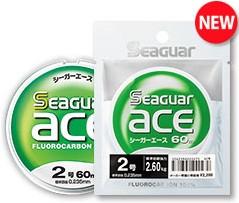 Kureha Seaguar Ace 60m (Fluorocarbon 109% tie strength)