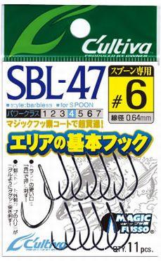 Owner SBL-47 Fine wire single barbless hooks