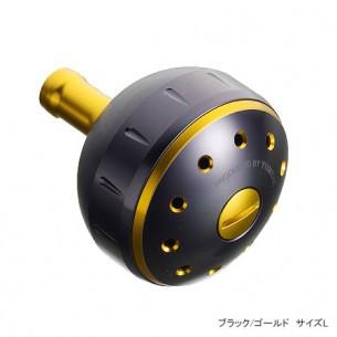 Shimano Yumeya Alumi Round Knob B, Black/Gold L (Shimano B fitting)
