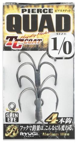 Ryugi Pierce Quad HPQ134, quad hooks for big swim baits