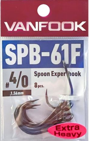 Vanfook Expert Hooks, SPB-61F, Extra Heavy, PTFE coated single hooks