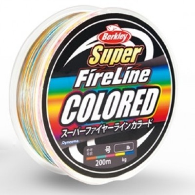 Berkley Super FireLine Colored, braided lines 200m, 400m, 600m, 1200m