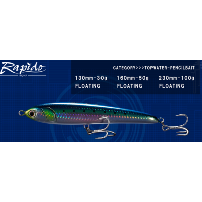Maria Rapido 130F 160F 190F 230F diving jerk pencil baits