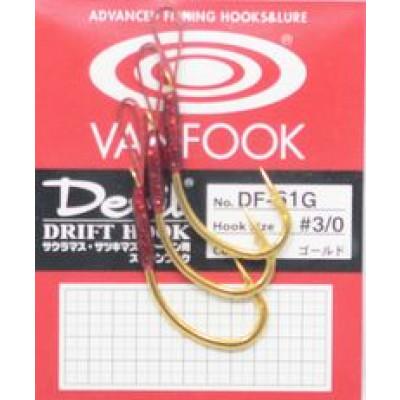 Vanfook Drift Hooks, DF-61R, 61G, Heavy, soft eye trout single hooks